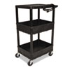 All Service Cart, 3-Shelf, 24w x 18d x 16h, Black