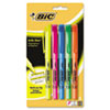 BIC Brite Liner Highlighter, Chisel Tip, Fluorescent, 5 per Set