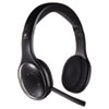 H800 Binaural Over-the-Head Wireless Headset, 4 ft Range, Black