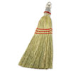 "Whisk Broom, Corn Fiber Bristles, 12"" Bristles, Metal Handle"