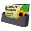 Business Card Holder, Capacity 50 2 1/4 x 4 Cards, Black