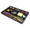 Universal Recycled Drawer Organizer, Nine Compartments, Plastic, 14 x 9 x 1 1/8