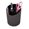 Universal Recycled Big Pencil Cup, Plastic, 4 1/4 dia. x 5 3/4, Black