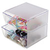 Two Drawer Cube Organizer, Clear Plastic, 6 x 7-1/8 x 6