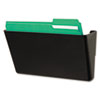 Universal Recycled Wall File, Add-On Pocket, Plastic, Black