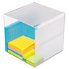 deflect-o Desk Cube, Clear Plastic, 6 x 6 x 6