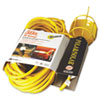 Polar/Solar Trouble Light, 50ft Cord, Yellow, Metal Lamp Guard