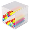 deflect-o Desk Cube with X Dividers, Clear Plastic, 6 x 6 x 6
