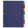 Poly Index Dividers, Letter, Assorted, 8-Tabs/Set, 4 Sets/Pack