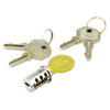 Alera KCSDLF Key-Alike Lock Core Set, Brushed Chrome ALEKCSDLF ALE KCSDLF