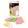 Removable Label Pads, Asst Sizes/Colors, 6 Pads/Pack, 225/Pack