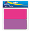 Removable Label Pads, 2 x 4, Assorted, 80/Pack