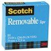 Scotch Removable Tape, 3/4