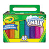Crayola Washable Sidewalk Chalk, 48 Assorted Bright Colors, 48 Sticks/Set