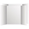 Eco Brites 26790 Two Cool Tri-Fold Poster Board, 36 x 48, White/White, 6/Carton GEO26790 GEO 26790