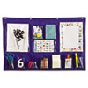 Writing Center Pocket Chart, 12 Pockets, Blue, 18 x 33