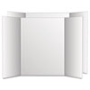 Eco Brites 27135 Too Cool Tri-Fold Poster Board, 36 x 48, Black/White, 6/PK GEO27135 GEO 27135
