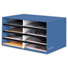 Decorative Eight Compartment Literature Sorter, Letter Size, Cornflower Blue