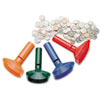 SteelMaster Color-Coded Coin Counting Tubes f/Pennies Through Quarters