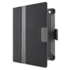 Belkin E9T008C00 Cinema Stripe Folio with Stand, for iPad 2/3, Black/Gray BLKE9T008C00 BLK E9T008C00