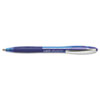 BIC Atlantis Ballpoint Retractable Ball Pen, Blue Ink, Medium, Dozen