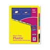 Plastic Index Dividers, White Self-Stick Labels, 8-Tab, Letter, 1 Set