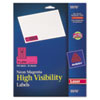 Avery High-Visibility Laser Labels, 1 x 2-5/8, Neon Magenta, 750/Pack