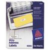 Dot Matrix Printer Address Labels, 3 Across, 15/16 x 2-1/2, White, 3000/Box