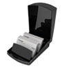 Covered Tray Business Card File Holds 250 2 1/4 x 4 Cards, Black