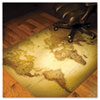 World Map 48x36 Rectangle Chair Mat, Multi-Task Series for Hardfloor