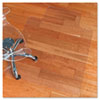 ecoKLEER Chair Mat, 45 x 53, 25 x 12 Lip, For Hard Floors, Clear