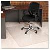 ecoKLEER Chair Mat, 46 x 60, No Lip, For Loop Berber Carpet, Clear
