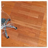 ecoKLEER Chair Mat, 46 x 60, No Lip, For Hard Floors, Clear