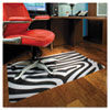 Design Series Printed Chair Mat, Hard Floor, 48w x 36l, Zebra Print