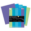 Astrobrights Colored Paper, 24lb, 8-1/2 x 11, Cool Assortment, 500 Sheets/Ream