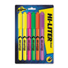 HI-LITER Fluorescent Pen Style Highlighter, Chisel Tip, 6/Set