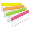 Durable File Tabs, 3 x 1 1/2, Bright Colors, 24/Pack