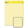 Self-Stick Easel Pads, Ruled, 25 x 30, Yellow, 2 30-Sheet Pads/Carton