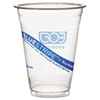 Eco-Products BlueStripe Recycled Content Clear Plastic Cold Drink Cups, 16 oz, Clear, 50/Pack