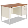 Alera SD4524PC Single Pedestal Steel Desk, Metal Desk, 45 1/4w x 24d x 29-1/2h, Cherry/Putty ALESD4524PC ALE SD4524PC