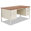 Alera SD6030PC Double Pedestal Steel Desk, Metal Desk, 60w x 30d x 29-1/2h, Cherry/Putty ALESD6030PC ALE SD6030PC
