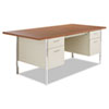 Alera SD7236PC Double Pedestal Steel Desk, Metal Desk, 72w x 36d x 29-1/2h, Cherry/Putty ALESD7236PC ALE SD7236PC