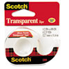 "Transparent Tape in Hand Dispenser, 1/2"" x 450"", Clear"