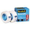 Scotch Removable Tape 811 2PK, 3/4