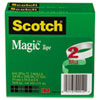 Magic Tape, 3/4&quot; x 2592&quot;, 3&quot; Core, 2 Rolls/Pack