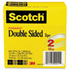 Double Sided Tape, 3/4&quot; x 1296&quot;, 3&quot; core, Transparent, 2 Rolls