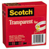 "Transparent Tape 600-2P34-72, 3/4"" x 2592"", 3"" Core, Transparent, 2 Rolls"