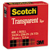 Scotch Transparent Tape, 3/4