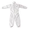 KleenGuard A20 Breathable Particle Protection Coveralls, Zip Closure, 3XL, White