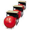 FitPro Ball with Stability Legs, 75 cm, Red